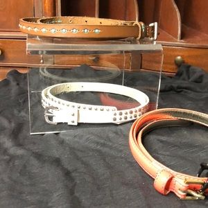 Accessories - Set of 3 thin belts size small